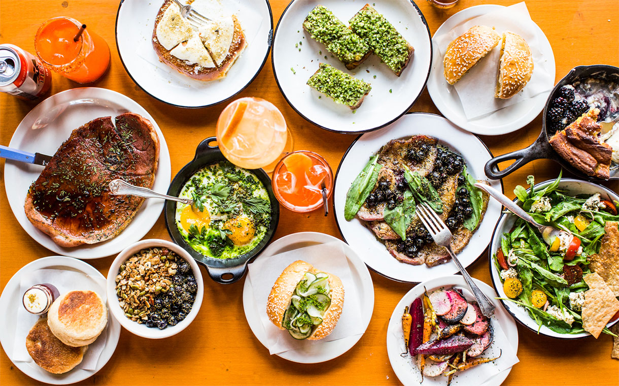 A variety of dishes for selection at the Urban Cowboy Public House.