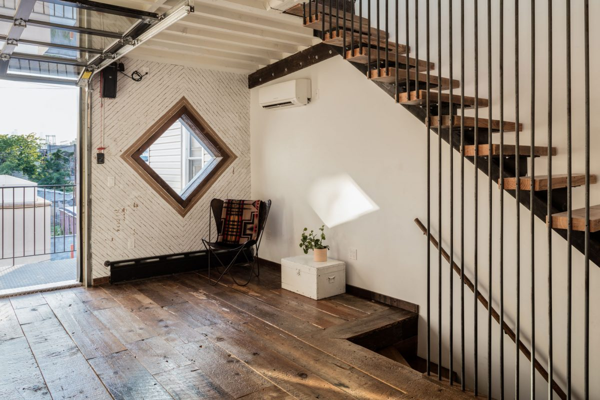 Urban Cowboy Brooklyn Private Townhouse Stairway and Balcony