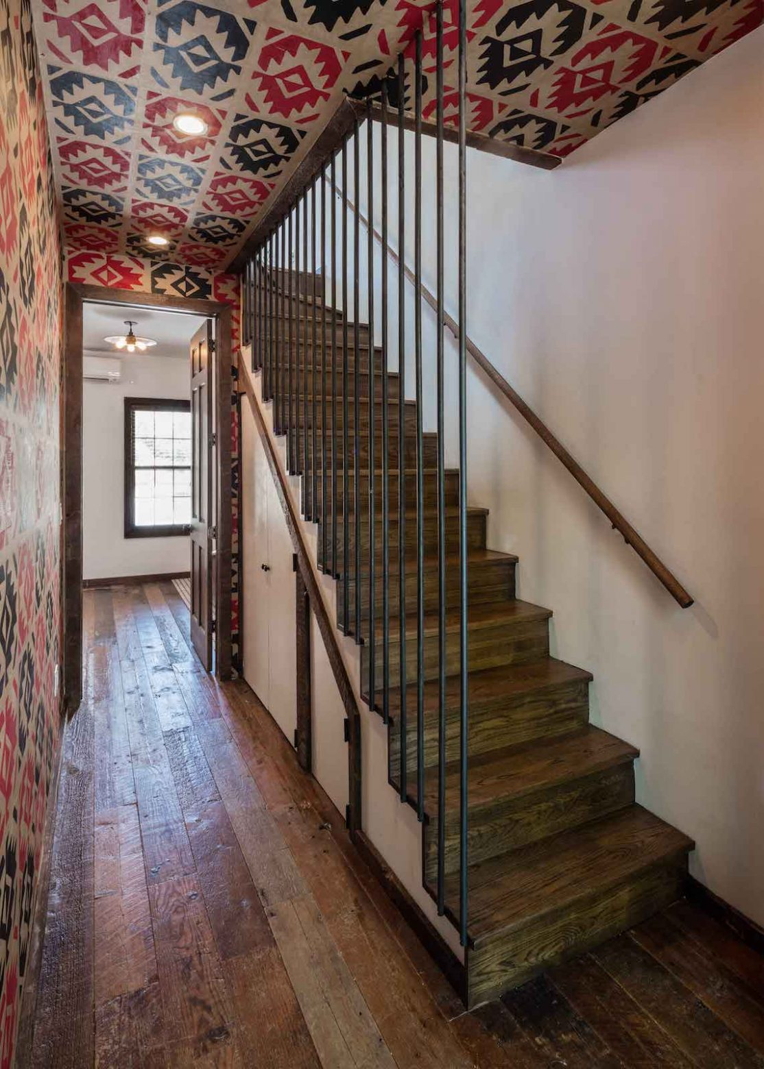 Urban Cowboy Brooklyn Private Townhouse Stairs Leading Up