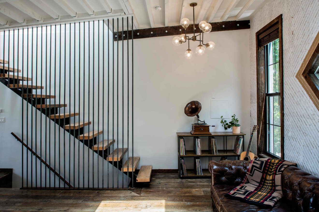 Urban Cowboy Brooklyn Private Townhouse Stairs
